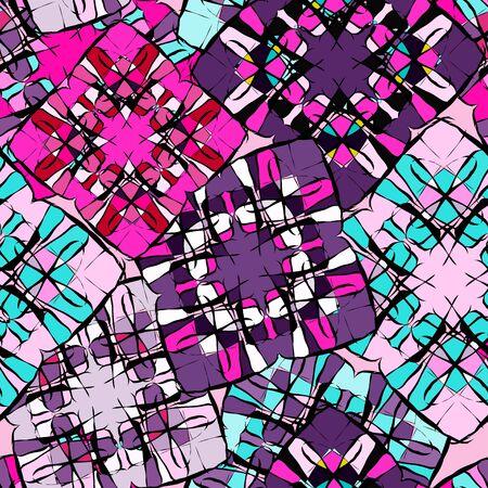 Graffiti small psychedelic seamless pattern illustration 스톡 콘텐츠