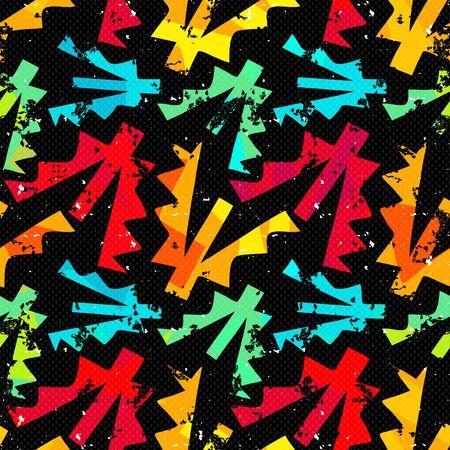 grunge colored graffiti seamless pattern illustration Archivio Fotografico - 131352556