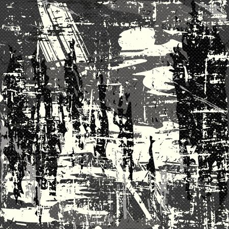 colored graffiti stains on a black background grunge texture