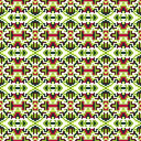 small pixels colored geometric background seamless pattern illustration Banque d'images - 131353305
