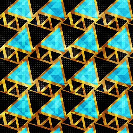 small colored polygons. Seamless geometric pattern illustration