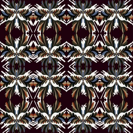 vintage tribal seamless pattern Stock fotó