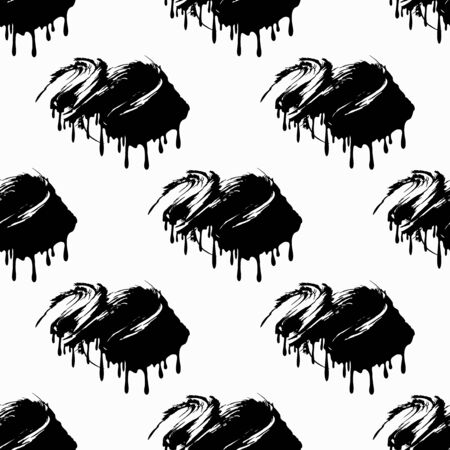 grunge colored graffiti seamless pattern vector illustration Stock Illustratie