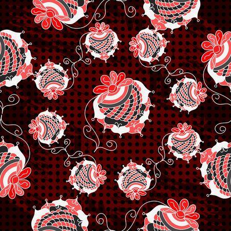 beautiful red strawberry on a dark background geometric seamless pattern