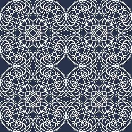 abstract monochrome vintage seamless pattern on a black background Фото со стока