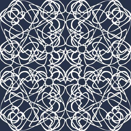 white lines vintage seamless pattern illustration Фото со стока