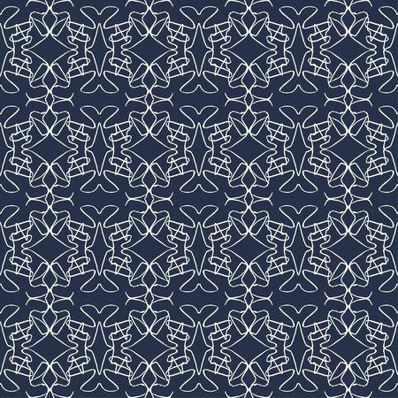 white thin line vintage seamless pattern