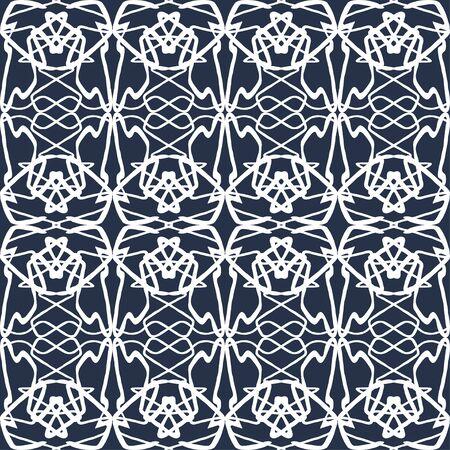 beautiful white thin line vintage seamless pattern