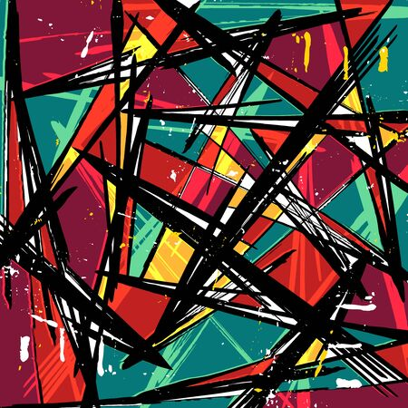 abstract colored background of graffiti beautiful polygons