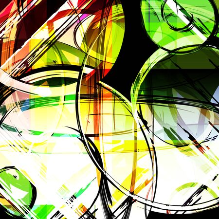 abstract color pattern in graffiti style Quality illustration for your design Archivio Fotografico - 134025690