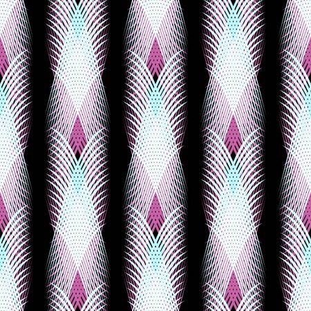 Graffiti on a geometric background seamless pattern Archivio Fotografico - 134025735
