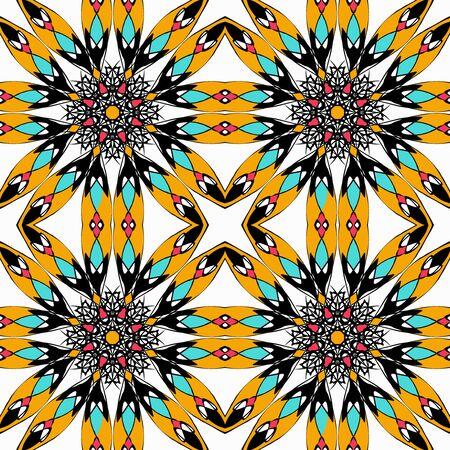 Mandala. Round Ornament Pattern. Vintage decorative elements illustration Archivio Fotografico - 134025693