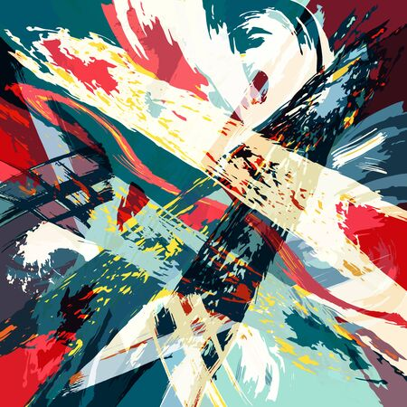 abstract color pattern in graffiti style Quality illustration for your design Archivio Fotografico - 134025697