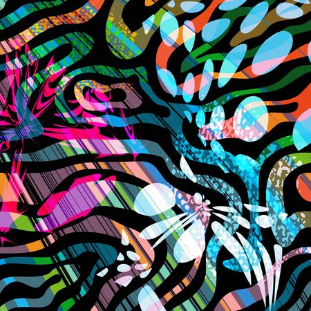 abstract color pattern in graffiti style Quality illustration for your design Archivio Fotografico - 134025699