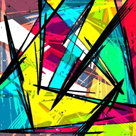 abstract color pattern in graffiti style. Quality illustration for your design Archivio Fotografico - 134025738