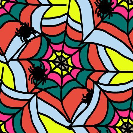 Graffiti on a geometric background seamless pattern Reklamní fotografie
