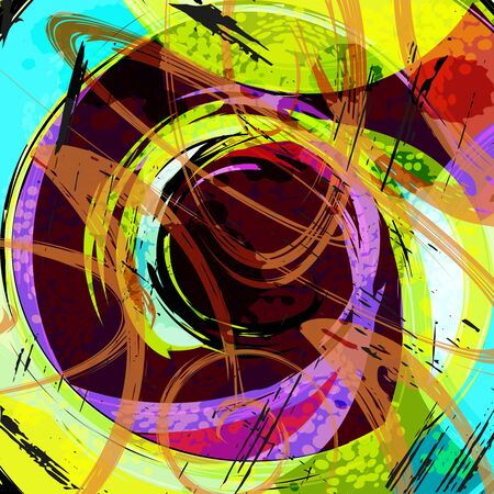 abstract color pattern in graffiti style. Quality illustration for your design Archivio Fotografico - 134025803