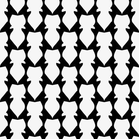 black white abstract seamless pattern for design Archivio Fotografico - 134025806
