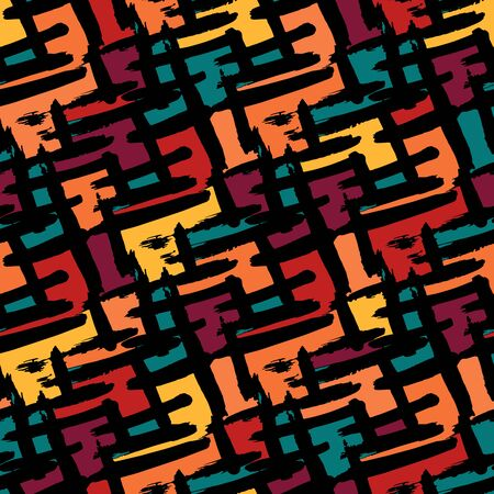 abstract geometric colored seamless pattern illustration for your design