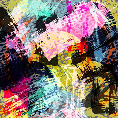 abstract color pattern in graffiti style Quality illustration for your design