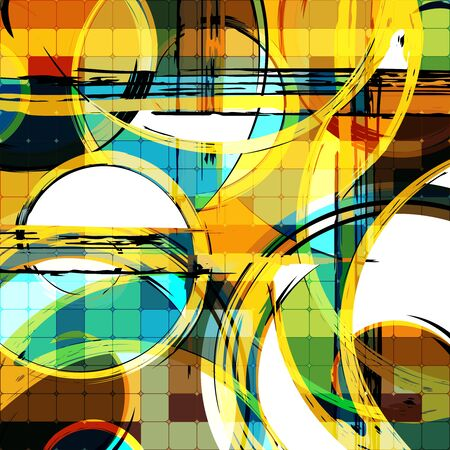 Abstract geometric colored background in the style of graffiti. Qualitative illustration for your design.