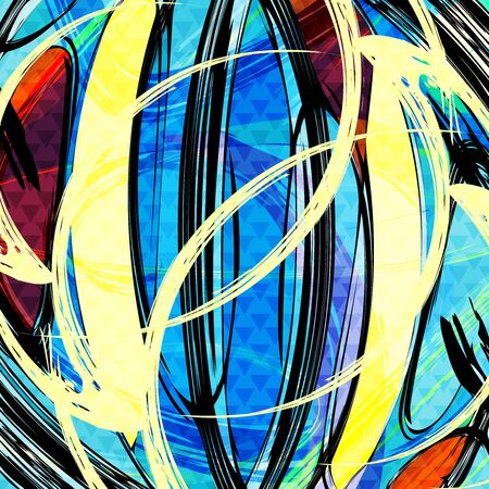 abstract colored graffiti background Illustration