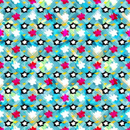 urban style ethnic ornament in bright color seamless abstract illustration for your design 向量圖像