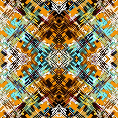 urban style ethnic ornament in bright color seamless abstract illustration for your design 版權商用圖片 - 140201393