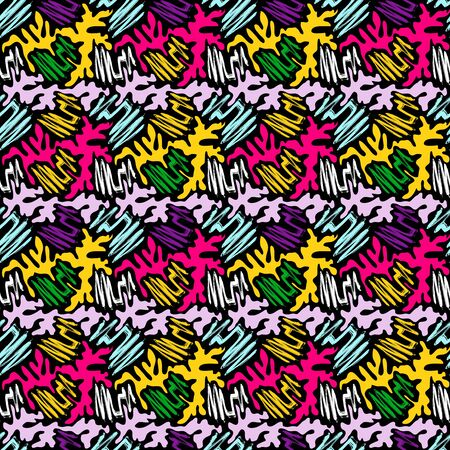 small geometric objects color abstract seamless ethnic pattern in graffiti style with elements of urban modern style