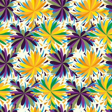 color abstract ethnic seamless pattern in graffiti style with elements of urban modern style bright quality illustration for your design Векторная Иллюстрация