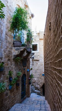 Narrow streets of an ancient city Jaffa, Israel