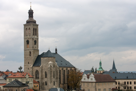 View to Saint James cathedral in Kutna Hora, Bohemia