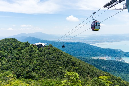 Cable Car on tropical island, Langkawi, Malaysia, Asia