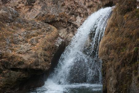 Honey waterfall in North Kavkaz, Kislovodsk, Russia