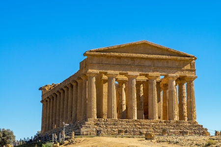 Ancient Concordia greek temple in Agrigento, Sicily
