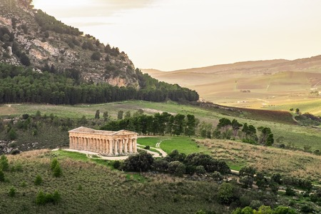 The Temple of Venus in Segesta, ancient greek town in Sicily, southern Italy.