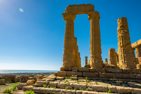 Ancient greek Temple of Juno, Agrigento, Sicily Italy