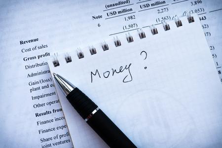 business balance, income statement financial analyze money. investment portfolio. business plan.