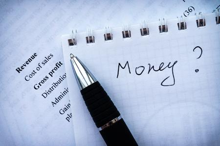 business plan, income statement financial analyze money. investment portfolio.