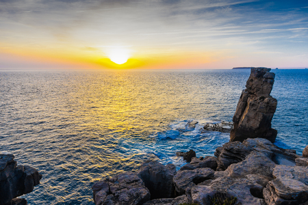 Sunset on the coast of Peniche, Estremadura, Portugal