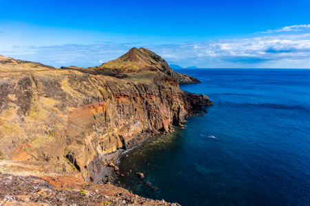 Cliffs of Ponta de Sao Lourenco, Madeira islands, Portugal 写真素材