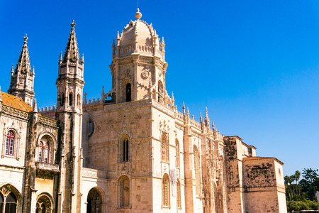 Church of Santa Maria de Belem and Monastery of Jeronimos in Lisbon, Portugals, manueline architecture