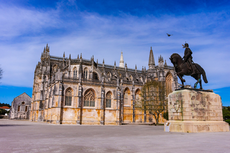 Batalha, Portugal. Monastery of Batalha or Monastery of Santa Maria da Vitoria. Gothic and Manuelino or Manueline style