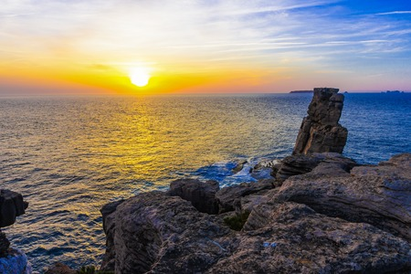 Colorfull Sunset at Cape Espichel, Peniche, Portugal