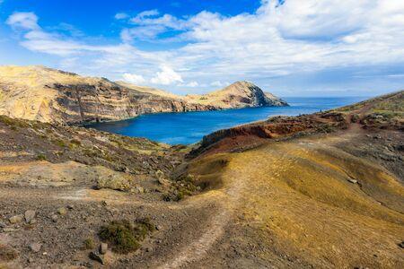 Incredible view of the cliffs at Ponta de Sao Lourenco, Madeira, Portugal Stock Photo
