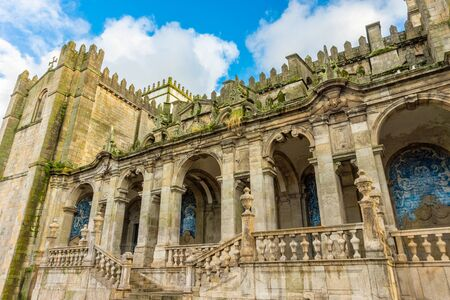 Romanesque Cathedral of Porto, Portugal is a Roman Catholic church located in the historical center of Porto city Фото со стока