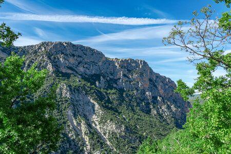 Gorges du Verdon, beautiful canyon in the alpes de haute provence, france europe Фото со стока