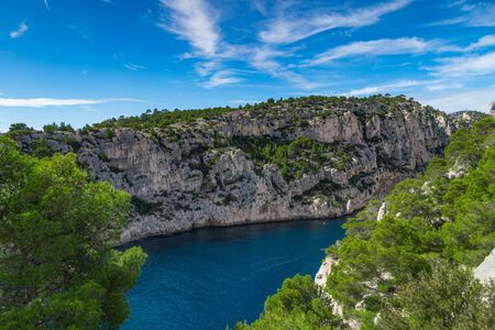 Calanques national park on the azure coast of France, Calanque dEn Vau bay, Cassis, Europe