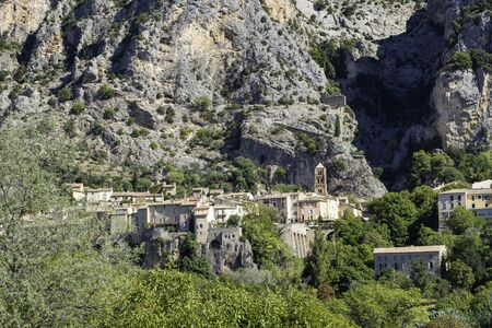 The village Moustiers St. Marie, Provence, Provence-Alpes-Cote dAzur, Southern France, France, Europe