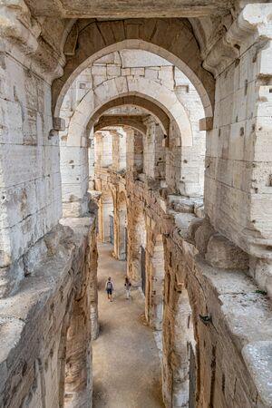Roman arena in Arles in Provence, south France Stock fotó